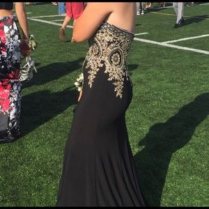 Gold and Black prom dress